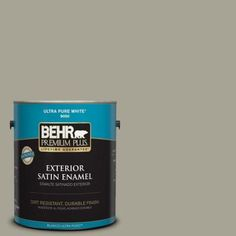 behr premium plus home decorators collection 1 gal hdc nt 01 woodland sage satin enamel exterior paint - Behr Home Decorators Collection