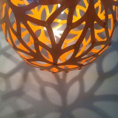 #dwellondesign // seed system lamp by david trubridge. shadows as beautiful as the object.