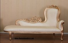 Baroque French Reproduction Louis XVI Style Fainting Couch or Chaise Lounge                                                                                                                                                      More