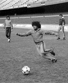 Entrenando después de la lesión, 1983.