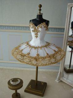 A miniature tutu handmade/ Miniature Ballet Costume Tutu Ballet, Ballerina Tutu, Ballet Dancers, Ballet Shoes, Ballet Leotards, Kids Leotards, Gymnastics Leotards, Ballerinas, Dance Outfits