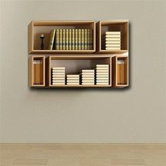 wall bookshelfbookshelf decorwall van WoodmadeCreation op Etsy bookshelf decor Bookshelf,set of five shelf,wall shelves,bookshelves Floating Shelves Books, Hanging Bookshelves, Wall Hanging Shelves, Cool Bookshelves, Bookshelves In Bedroom, Modern Bookshelf, Book Shelves, Bookshelf Ideas, Bookshelf Wall