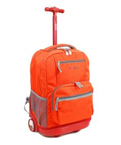 Love this Orange Sunset Rolling Backpack on #zulily! #zulilyfinds