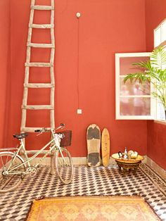 Poligöm / Terracota, Blush, Lipstick, Nude... Deco rouge, une touche de design pour un intérieur contemporain ou Vintage