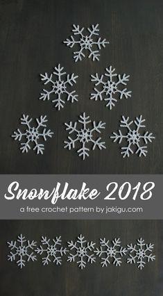 crochet snowflake - free crochet pattern by Free Crochet Snowflake Patterns, Christmas Crochet Patterns, Crochet Snowflakes, Granny Square Crochet Pattern, Crochet Motif, Crochet Shawl, Crochet Christmas Ornaments, Christmas Snowflakes, Christmas Angels