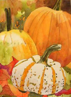 watercolor fall scenes - Google Search
