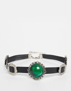 Image 1 of ASOS Buckle & Stone Leather Choker
