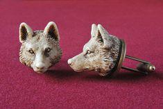 Wolf MAN Cufflinks Victorian style hand by GothChicAccessories, $32.00