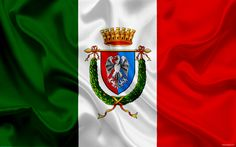 Download wallpapers coat of arms, province Rome, Italy, italian flag, symbols, flag of Italy