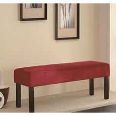@Overstock - Add this comfortable plush wooden bench to your home for a stylish seating alternative. The soft red fabric and beautiful weather cured wood will look wonderful in any room, and the sturdy construction is sure to last for many years to come.http://www.overstock.com/Home-Garden/Murana-Red-Plush-Bench/6287333/product.html?CID=214117 $143.19