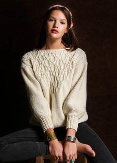 kit tricot meripaca laine merinos baby alpaga pullover Coleen Sweater