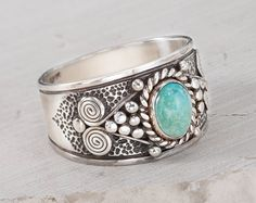 Mens Turquoise ring ring in sterling silver, Turquoise ring, Man ring wide, fine jewelry for men on Etsy, $180.00
