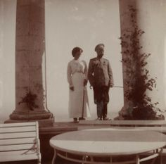 Grand Duchess Olga and her Father Tsar Nicholas II