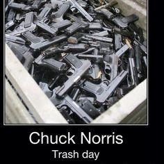 Chuck Norris Trash Day