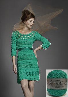 Crochét dress in green
