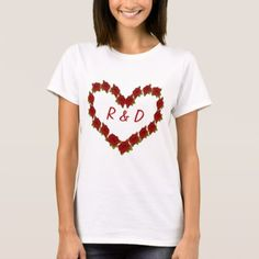 Heart of roses T-Shirt - love gifts cyo personalize diy