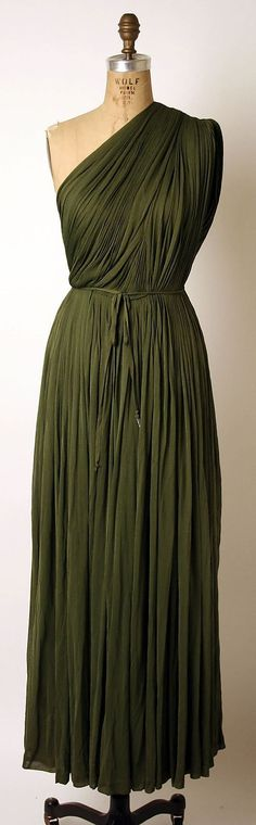 Evening dress by Madame Grès.