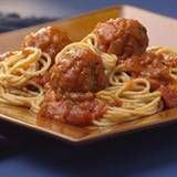 Old-Fashioned Spaghetti & MeatballsTo stretch the ground beef, we use high-fiber bulgur and whole-wheat breadcrumbs in the meatballs, which are baked rather than fried