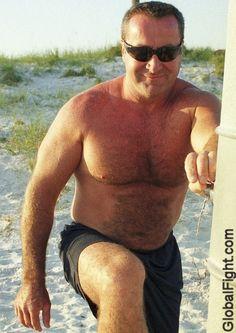 beach daddy hairychest bear