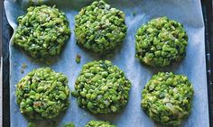 Yotam Ottolenghi's pea and mint croquettes recipe: 'They can be made well in advance up to the stage where they are covered in breadcrumbs and frozen.' Photograph: Jonathan Lovekin for the Guardian