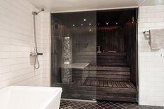 Moderni kylpyhuone, Etuovi.com Asunnot, 56cefe65e4b09002ed1515f1 - Etuovi.com Sisustus Helsinki, Sauna, Alcove, Bathtub, Bathroom, Style, Hot, Standing Bath, Washroom