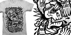 """LOST MIND"" t-shirt design by C A T S N E E Z E"