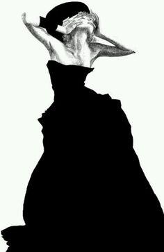 Woman, Frau, Zena, Devojka, Black Dress, Crna Haljina, Schwarzes Kleid, Poza, Posieren, Painting, Drawing, Zeichnen, Crtanje, Fashion, Drama,