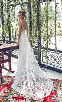 limor rosen 2019 xo bridal sleeveless with strap deep v neck full embellishment romantic soft a line wedding dress open back chapel train (4) bv