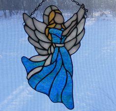 STAINED GLASS  ANGELS *** ANGES EN VITRAIL  par BIJOUX LIBELLULE sur Etsy