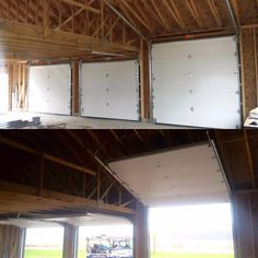 LaRoy Garage Doors of Monroe Michigan. Residential and Commercial Garage Door Sales and Service. & Haas Model 660 American Walnut Color 6-Pane Windows | Our Installs ...
