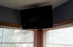 How To Build A Simple Flat Screen Tv Ceiling Mount From Unistrut And Pipe