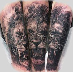 Realistic Lion tattoo by Steve Butcher | Tattoos | Pinterest