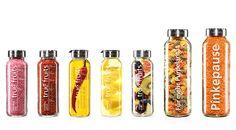 true fruits Flaschenaufsätze aus Edelstahl. Als Gießer und Streuer zum aufschrauben auf die true fruits smoothies 250 ml.