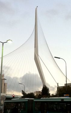Jerusalem the String Bridge by Santiago Caltrava