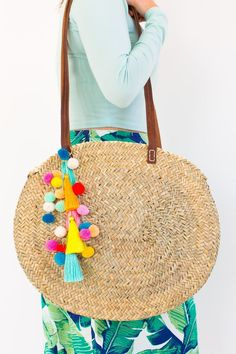 Make a statement this Summer with our DIY pom pom tassel circle pool bag! - a60790a1c0892