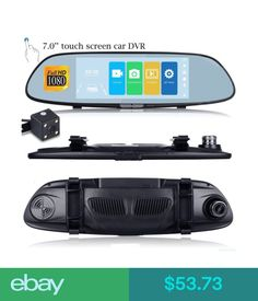 Digital Video Recorders, Cards Hd 1080P Dual Lens 7Inch Vehicle Rearview Mirror Camera Recorder Car Dvr Dash Ar #ebay #Electronics