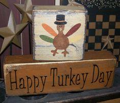 2x4 Crafts, Primitive Wood Crafts, Primitive Signs, Wood Block Crafts, Wood Blocks, Wood Projects, Craft Projects, Thanksgiving Wood Crafts, Thanksgiving Decorations