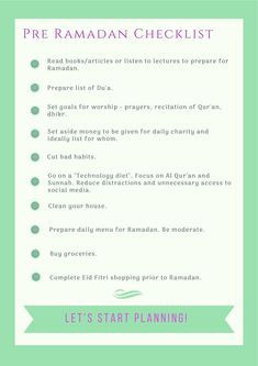 Preparing For Ramadan, Printable Planner, Printables, Ramadan Tips, Ramadan Day, Hadith, Eid Moubarak, Books To Read, Prayers