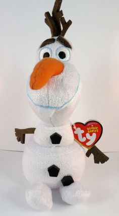 Ty Beanie Babies Baby Disney FROZEN OLAF SNOWMAN Stuffed Animal 8