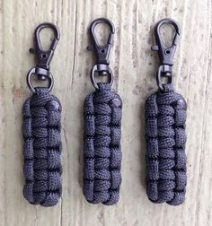 Paracord Zipper Pulls - Black w/Black Swivel Hooks by Stockstill Outdoor