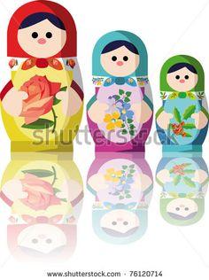 russian dolls by Doem, via ShutterStock