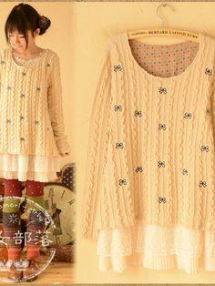 sweet bow sweater $39 #asianicandy #kawaii
