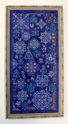 love the blue fabric! 'Cotillion' by Papillon stitched in 2011