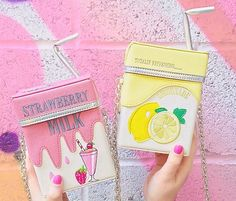 Imagem de pink, bag, and lemon