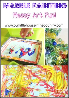 Marble Painting - More Rainy Day Messy Art Fun!
