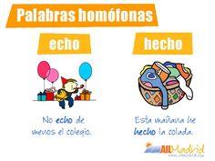 Aquí tenemos otras dos palabras homófonas del #español #vocabulary #Spanish