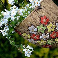 květináče,truhlíky / Zboží prodejce lavender | Fler.cz Ceramic Birds, Terracotta Pots, Hobbies And Crafts, Paper Mache, Planter Pots, Lavender, Pottery, Clay, Handmade Products