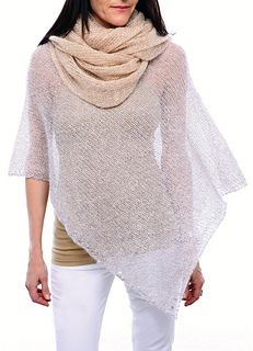 Want something uniquely stylish to knit? Is it a shrug, scarf or poncho? Check out Grace & Style Set 2 by Adele Cutten, a free pattern. Uses fingering weight yarn.