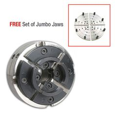 Utility Grip 4 Jaw Chrome Lathe Chuck System: includes 2 sets of jaws and FREE 8 in. Pvc Pipe Projects, Lathe Projects, Wood Turning Projects, Woodturning Tools, Lathe Tools, Wood Lathe Chuck, Wood Router, Cnc Router, Wood Turning Lathe