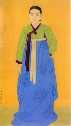 The portrait of Shim Duk-kyung, which is painted by Yoon Doo-seo, is also a masterpiece, but the self-portrait of herself is also considered a masterpiece. Diy Art Painting, Traditional Art, Historical Artwork, Korean Traditional, Korean Art, Korean Artist, Art, Korean Illustration, Figurative Artists